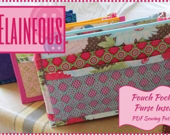 Purse Organizer Pattern, Purse Insert Pattern, Purse Pattern, Sewing Pattern, PDF Sewing Pattern