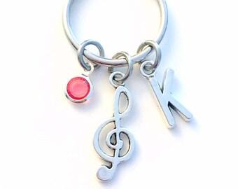 Gift for Teenage Girl or Boy Keychain, Treble Clef Key Chain Music Keyring Band Musician teen teenager women woman men birthday present her
