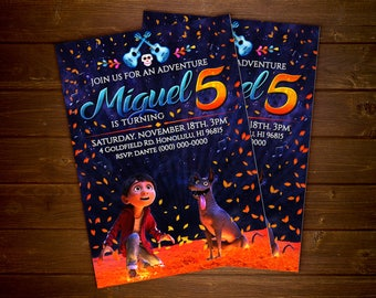 Custom Coco Movie Invitation - 5x7 or 4x6