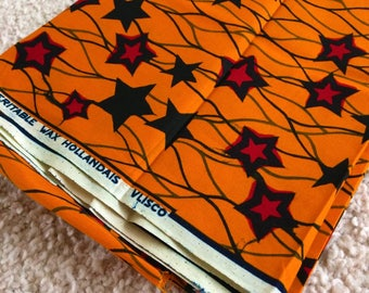 Vintage Vlisco Dutch wax fabric | star pattern | 14/0954