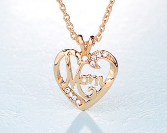 Mothers Day Mom Heart Pendant