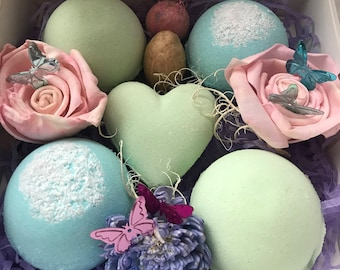 Rosemary/Pine and Bergamot bath bombs gift set, relaxation,home spa, bath fizzies, mothers day gift set, gifts for her,unique gift set