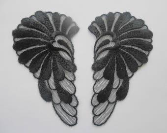 2 applique Wings Angels 10.5 x 6.2 cm