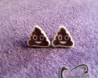 Fun Emoji Whatsapp Poop Earrings