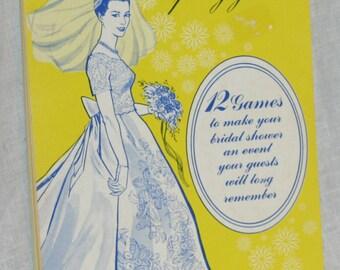 Vintage Bridal Shower Party Game Book