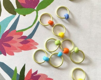 Stitch Markers for knitting lace markers ringos sock knitting ring markers Snag Free  ring stitch markers, ringos, knitting - MISS SPRING