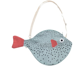 Big Green PUFFERFISH (Big green Balloon)-Fish bag