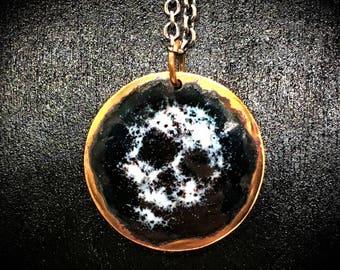 Skull pendant necklace hand made memento mori #3
