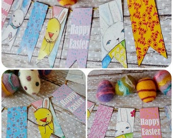 Happy Easter Banner PDF printable - digital college sheet bunny chick