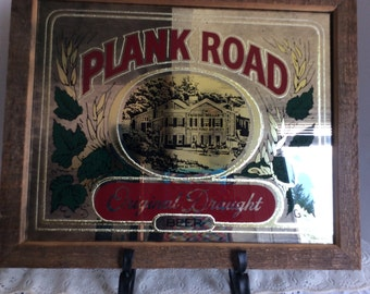 Frederick Miller's Plank Road Brewery, Mirror--Beer Sign, Vintage, Man Cave, Study, Bar Room, Den