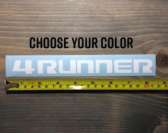 4Runner Sticker Decal Toyota 4 Runner DIE CUT 5th Gen Emblem Mud Flap Vinyl Yota SR5 Trail TRD Pro Limited Edition Lifted Tacoma