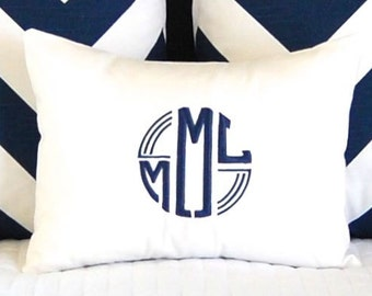 Monogram Pillow Cover - 12 x 16 - Personalized Gift - New Baby Gift - Throw Pillow Cover - Sorority Gift - Custom Pillow Cover