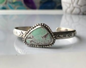 Sterling silver, variscite cuff bracelet