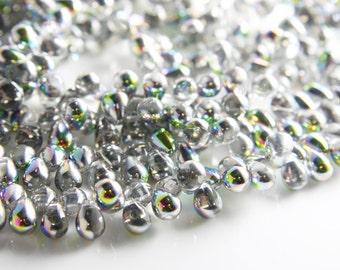 50pcs Czech Glass Tear Drops-Vitral Crystal 8x6mm (86V0003) (B-6-23)