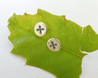 phillips head Earrings   Screw head earrings   Sterling silver post earrings   Everyday earrings   Flower earrings   tiny posts