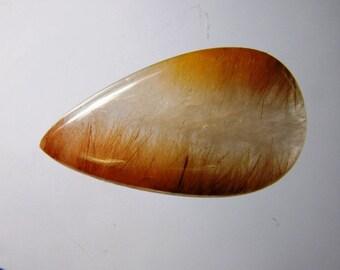Brown Rutilated quartz loose gemstone, Natural Rutilated quartz cabochon gemstone, Rutilated quartz loose stone 35 Cts. R-1444