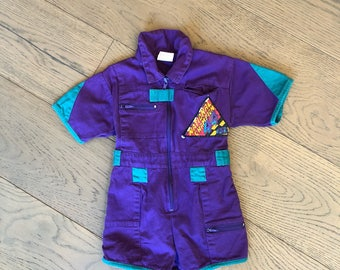 Little kids retro jumpsuit / romper