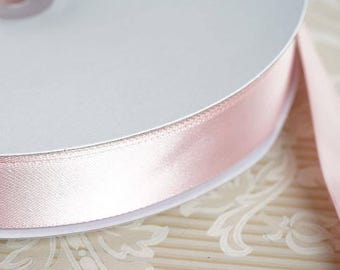 Blush Ribbon Blush Satin Ribbon High Quality Satin Pink Ribbon Weddings Invitations Sashes Crafts Apparel Headbands By the Yard