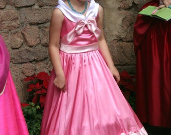 Cinderella's Pink Gown Made by the Mice Custom Child Size