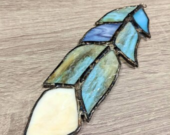 Large stained glass feather
