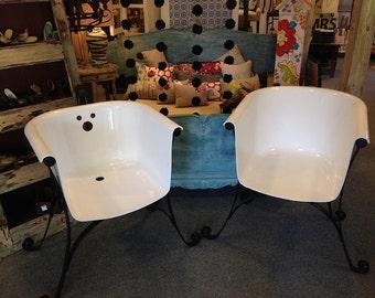Loufa Loungers claw foot cast iron bath tub lounge chairs