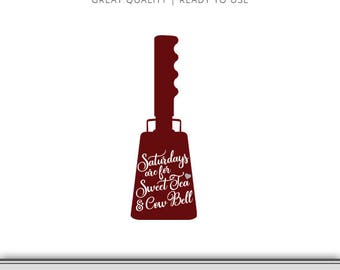 Sweet Tea & Cow Bell Mississippi State Bulldogs Graphic - Digital Download - SVG file - Cut Files - Mississippi SVG - Ready to Use!