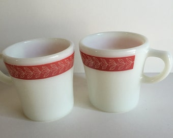 Pink Pyrex coffee mugs/Vintage Pyrex Cups/Pyrex/Pink Pyrex/Vintage Kitchen/Coffee Mugs