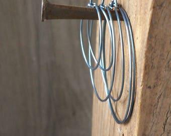 Titanium Hoops - Hypoallergenic - Hoop Earrings - Gift Idea - Handmade Jewelry- Handmade Earrings- Hypoallergenic Earrings - Pure Titanium