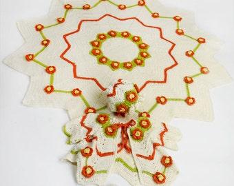 Retro Ripple Layette Crochet Pattern PDF