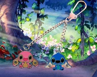 Disney Lilo & Stitch key chain/keyring with Stitch and Angel  Free UK Postage!