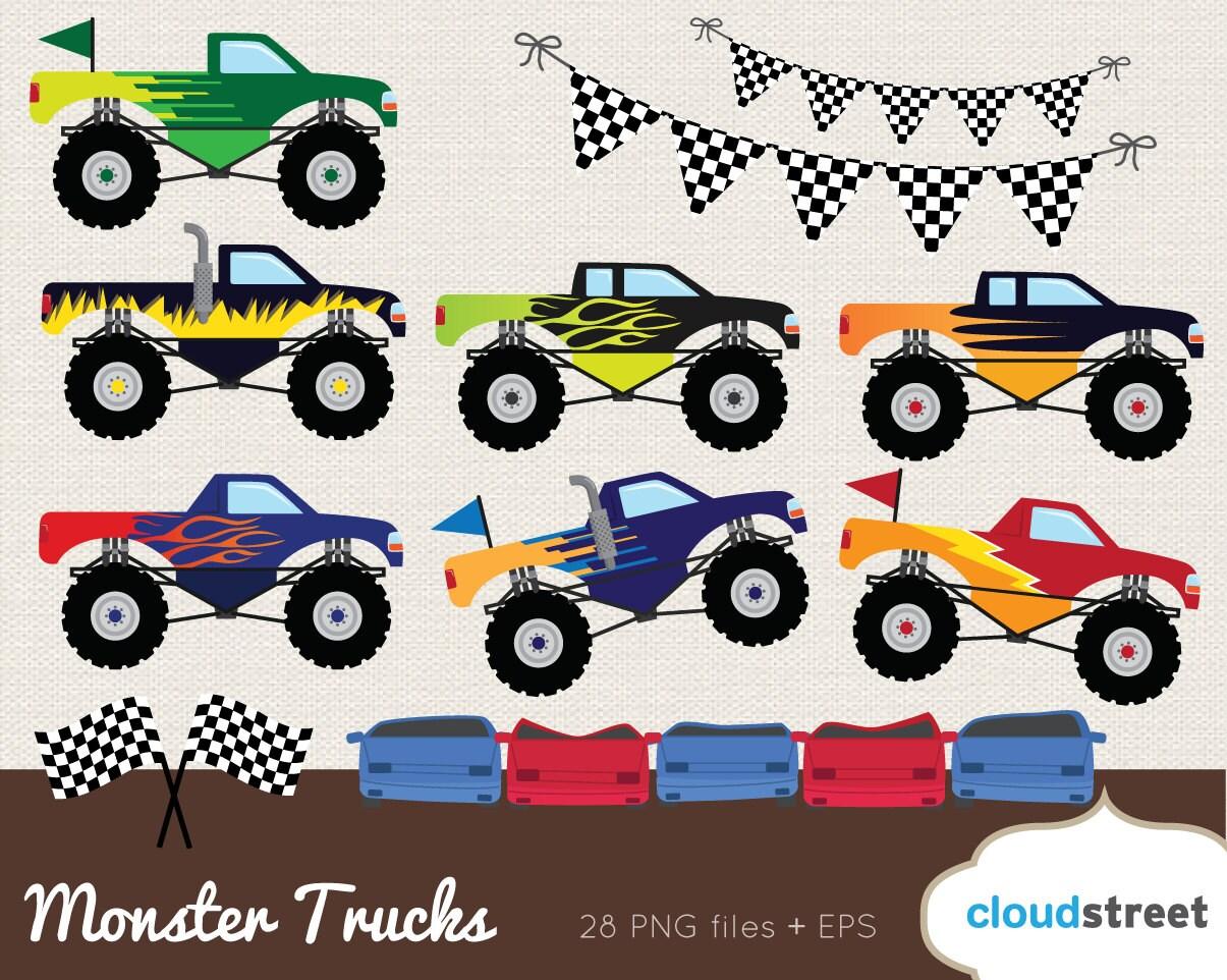 buy 2 get 1 free monster truck clipart monster truck clip rh etsy com monster truck clipart images monster truck clipart images
