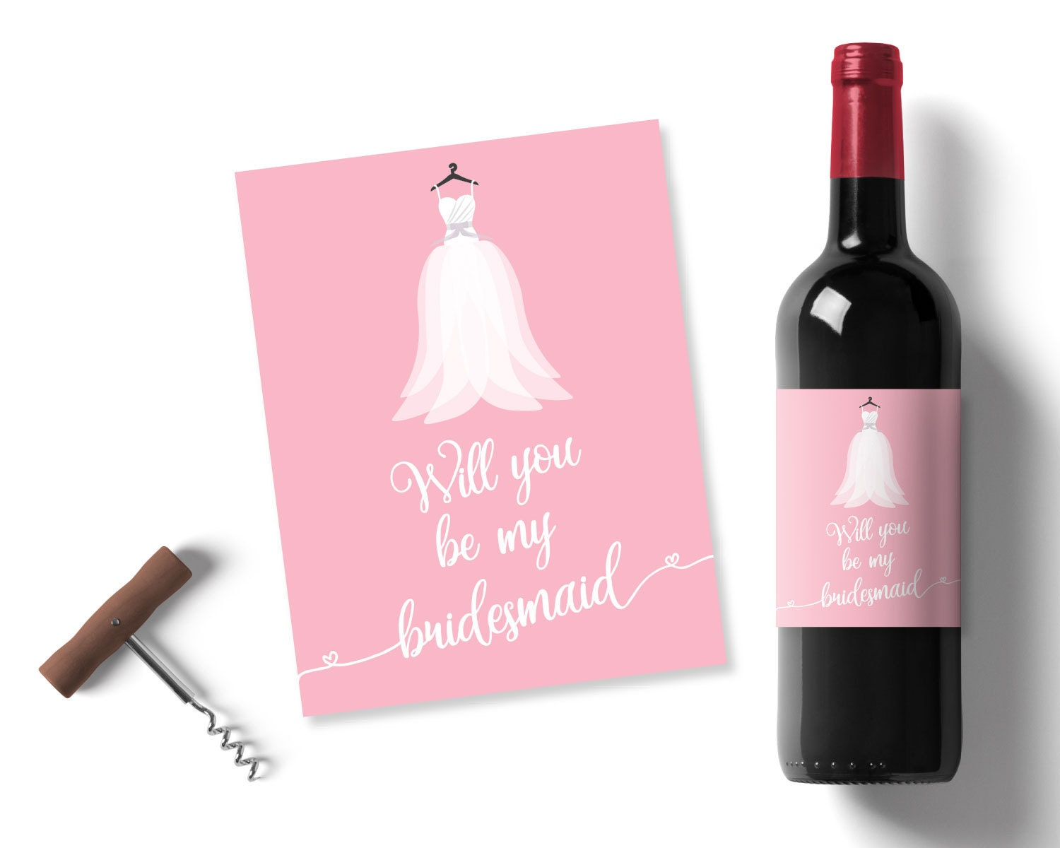 will you be my bridesmaid wedding favours pink bridesmaid