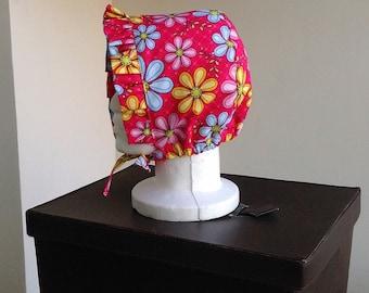 Reversible Ruffle Bonnet Sewing Pattern, Newborn to Adult Sizes, Sun Bonnet Pattern
