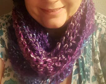 Purple Crochet Snood