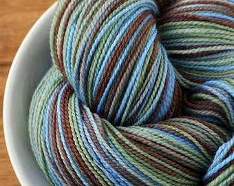 Superwash Merino 2-ply Sock Yarn CAMPING TRIP