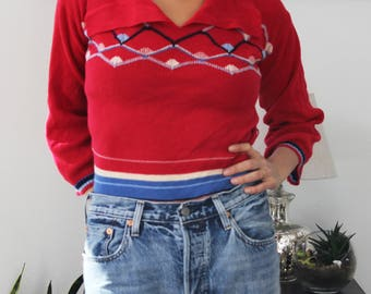 Reto Red Pullover Sweater