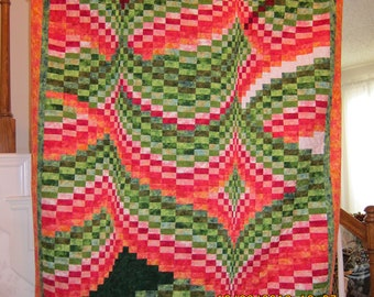 Fireflies Bargello Quilt Throw