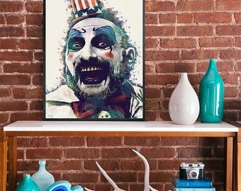 Captain Spaulding  House of 1000 Corpses and The Devil's Rejects Sid Haig poster movie poster ART