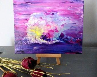 Mini lila Kunst abstrakte Tisch modern