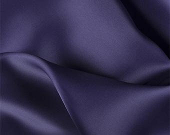 Dark Purple Silk Satin Organza, Fabric By The Yard
