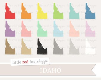 Idaho Clipart, US State Clip Art, USA Clipart, State Clipart, America Clipart, Icon Cute Digital Graphic Design Small Commercial Use