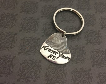 Handwriting & Fingerprint Jewelry - Signature Jewelry - Keychain -Signature Keychain - Fingerprint Keychain -Thumprint