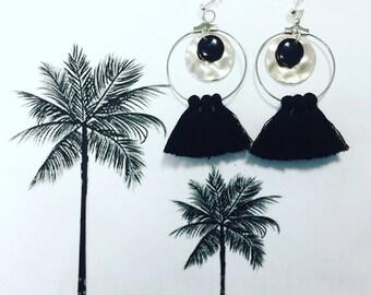 Black Bohemian earrings