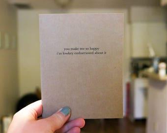 You Make Me Happy - Love/Valentine's Day Card