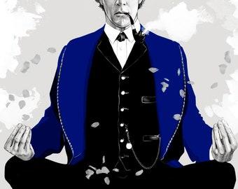Sherlock BBC Holmes   Art   Art Print   Poster   Portrait