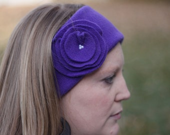 INSTANT DOWNLOAD Fleece Ear Warmer PDF Sewing Pattern Includes Sizes Baby to Adult