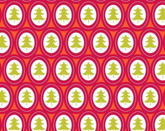 Treelicious Jingle Bells in Red, Maude Asbury, Blend Fabrics, 100% Cotton Fabric, 101.112.03.2