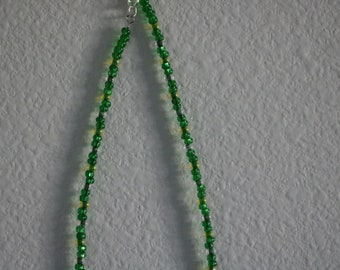 Vibrant Green Beaded Choker