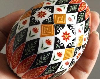 Made To Order Fall Floral Pysanka Pysanky Ukrainian Style Batik Art Easter Egg