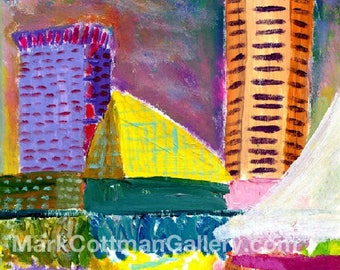 Inner Harbor Reflections - 8 x 10 signed and limited reproduction on polymer